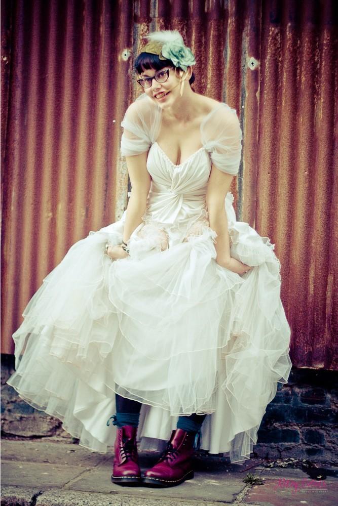 Bride wearing Dr Martens