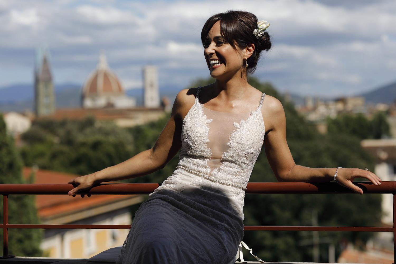 Gorgeous bride Italy wedding