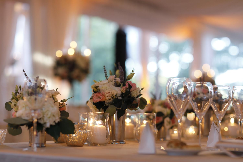 romantic wedding reception Tuscany