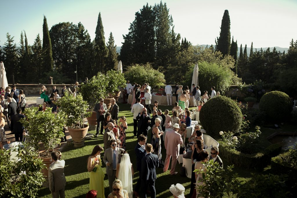 Garden drinks reception