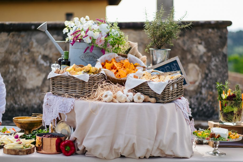 Italian wedding food