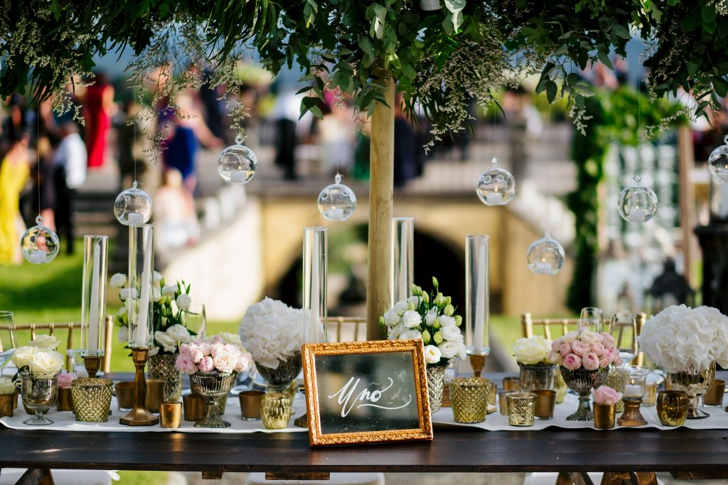 Hanging tealights Italian luxury wedding