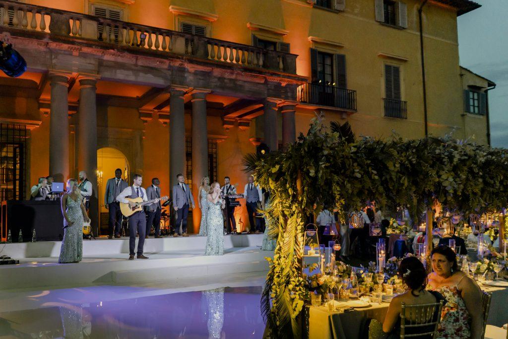 Villa di Maiano wedding party