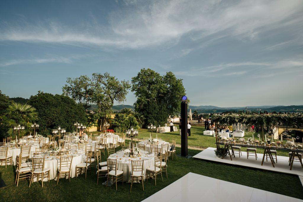 Villa di maiano wedding dinner