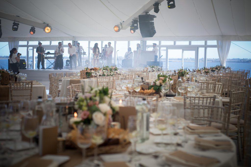Destination Wedding Planner - UK Destination Wedding Weekend - Marquee wedding on Osea Island