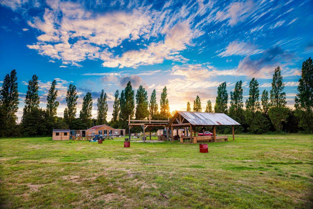 UK Destination Wedding Weekend - Destination Wedding Planner - Osea Island the Shack Festival Field