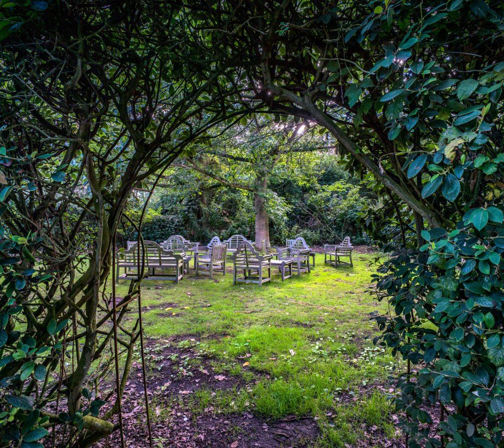 uk destination wedding weekend - destination wedding planner - osea island secret garden