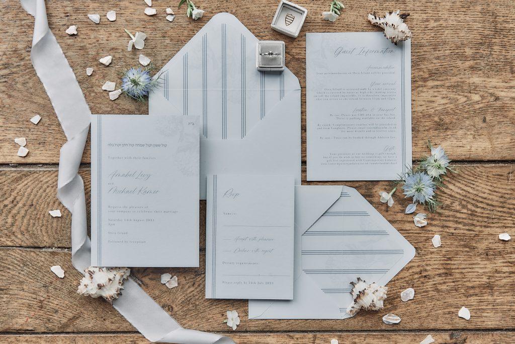 jewish wedding planner - jewish destination wedding planner - wedding invitation