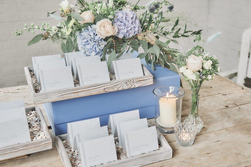 jewish wedding planner - jewish destination wedding - escort card table