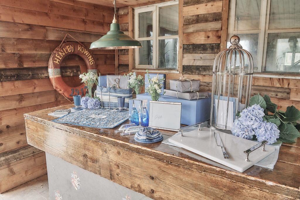 jewish wedding planner - jewish destination wedding on osea island - gift table