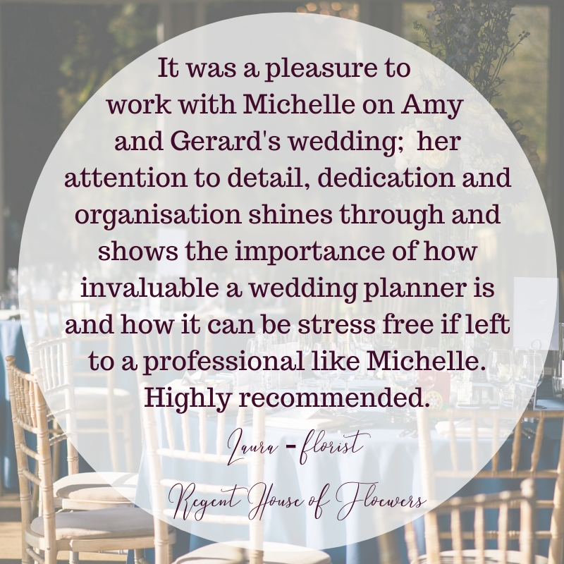 London Wedding Planner - short notice wedding - wedding planner testimonial