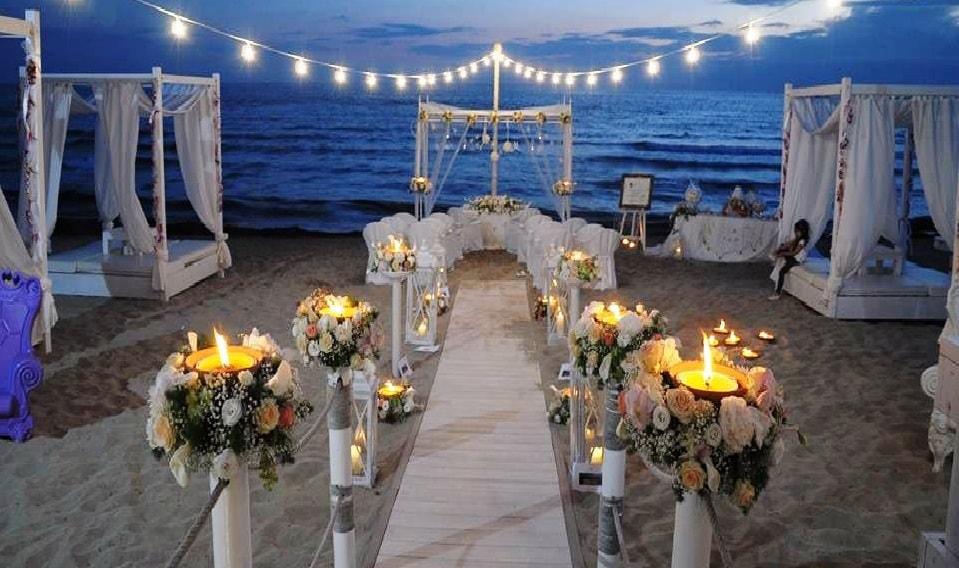 le Palme beach club Intimate Italian wedding